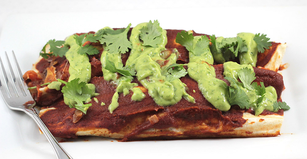 Sweet Potato + Black Bean Enchiladas