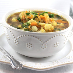 Indian Lentil + Cauliflower Soup