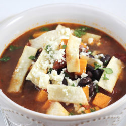 Black Bean + Sweet Potato Soup