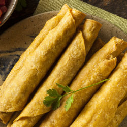 Black Bean + Green Chili Taquitos