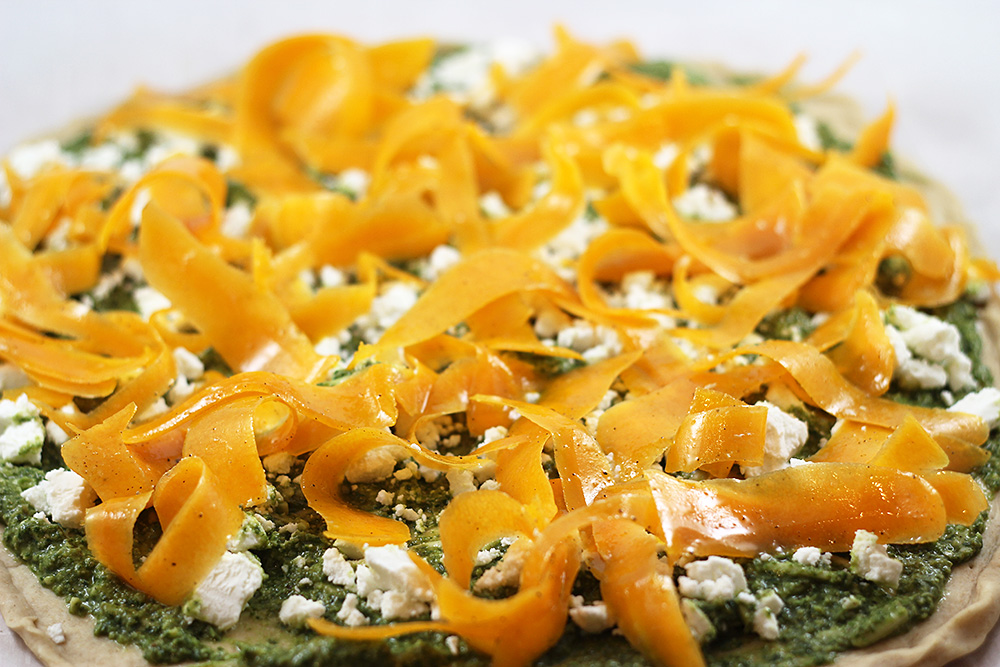 Butternut + Goat Cheese + Pesto Pizza